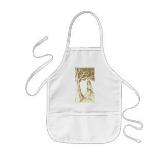 Alice & the Door by Lewis Carroll Sepia Pink Kids Apron