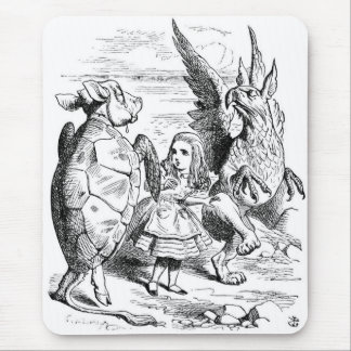 Alice, the Gryphon and the Mock Turtle Dance Mouse Pad