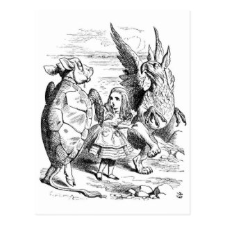 Alice, the Gryphon and the Mock Turtle Dance Postcard
