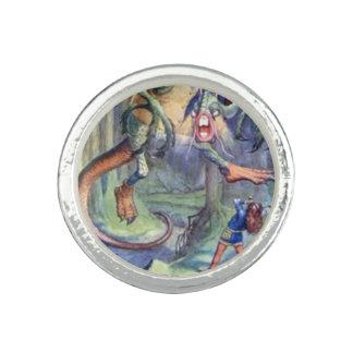 Alice & the Jabberwock Full Color Ring