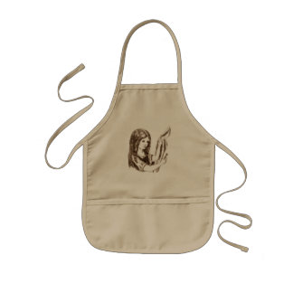 Alice & the Key by Lewis Carroll Sepia Tint Kids Apron