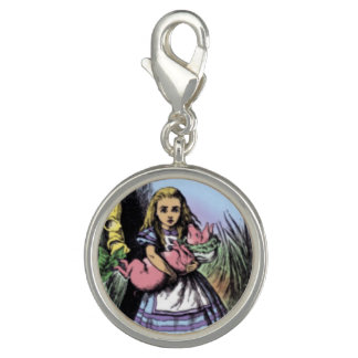 Alice & the Pig Baby in Pastels Photo Charm