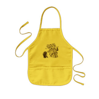 Alice & the Queen by Lewis Carroll Sepia Tint Kids Apron