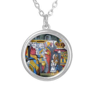 Alice & the Queen of Hearts Silver Plated Necklace