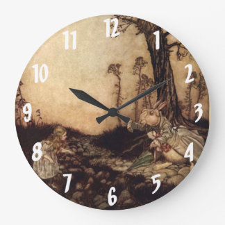 Alice & the Rabbit Arthur Rackham Wall Clock