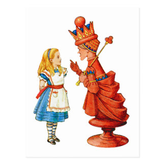 Alice & The Red Queen Postcard