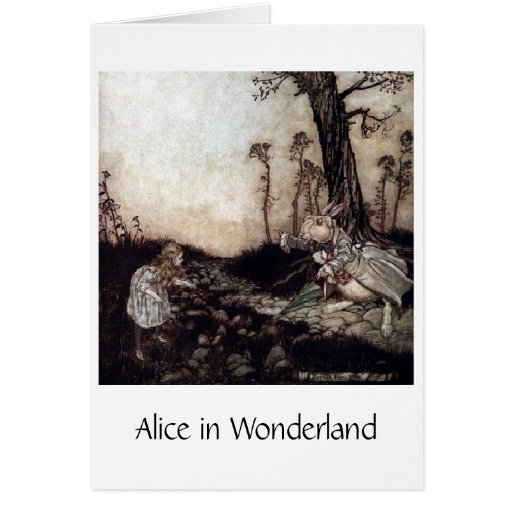 Alice & The White Rabbit, Greeting Card