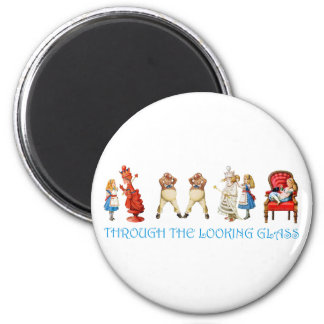 ALICE THROUGH THE LOOKING GLASS 2 INCH ROUND MAGNET
