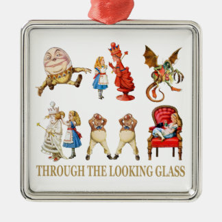 Alice Through the Looking Glass Metal Ornament