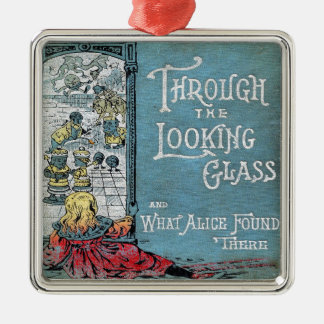 Alice Through The Looking Glass Silver-Colored Square Ornament