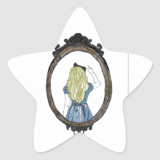 Alice through the looking glass star sticker