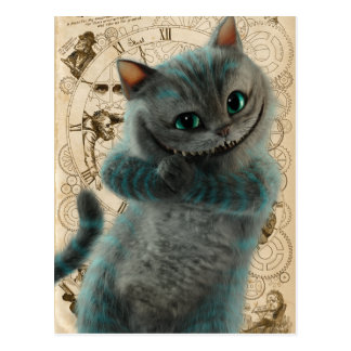 Alice Thru the Looking Glass | Cheshire Cat Grin Postcard