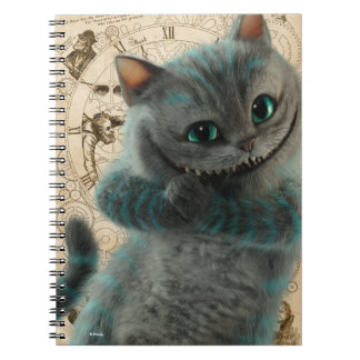 Alice Thru the Looking Glass | Cheshire Cat Grin Spiral Notebook