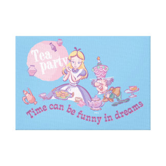 Alice | Time Can Be Funny In Dreams Canvas Print