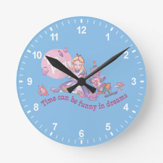 Alice | Time Can Be Funny In Dreams Round Clock