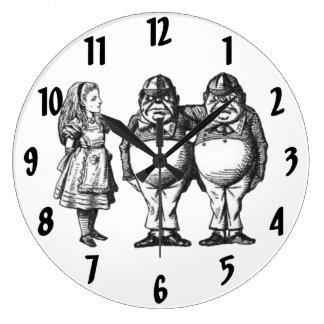 Alice, Tweedle Dee & Tweedle Dum Wall Clock
