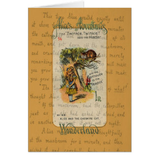 Alice: Twinkle, Twinkle, said the Hatter Greeting Card