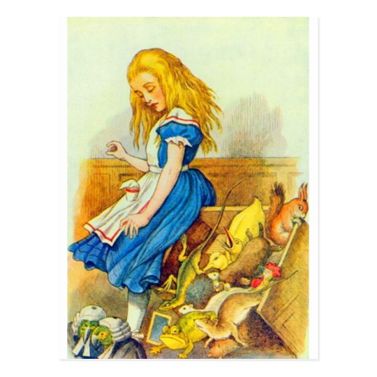 Alice Upsets the Jury Box Colour Postcard