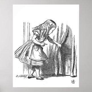 Alice vintage au pays des merveilles recherchant l poster