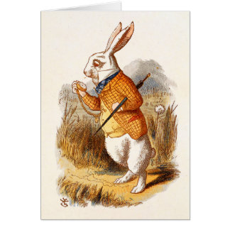 Alice - White Rabbit - Note Card