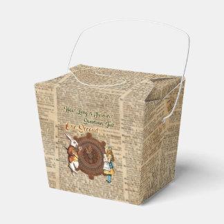 Alice & White Rabbit Vintage Dictionary Art Quote Favor Box