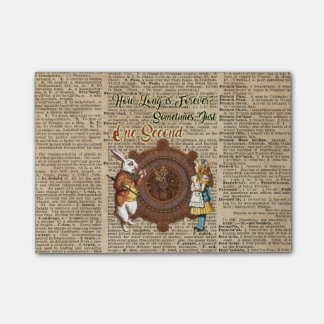 Alice & White Rabbit Vintage Dictionary Art Quote Post-it Notes