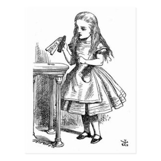 """Alice with the """"Drink Me"""" Bottle Postcard"""
