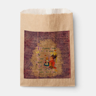 Alice with The Duchess Custom Dictionary Art Favour Bag