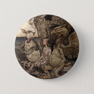 Alice with the Gryphon and the Mock Turtle 2 Inch Round Button