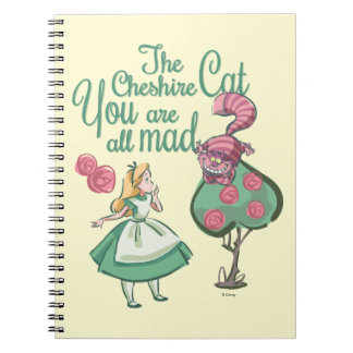 Alice   You Are All Mad Spiral Notebook