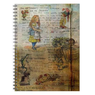 Alice's Adventures Spiral Notebooks