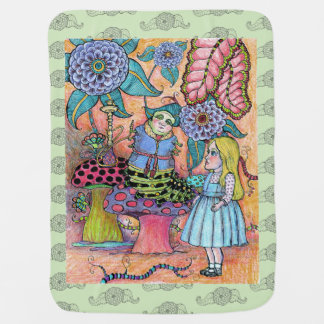 Alice's Conversation with the Caterpillar Baby Blanket