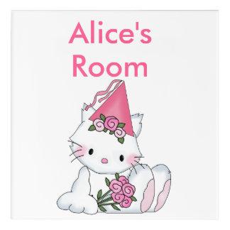 Alice's Room Sign Acrylic Wall Art