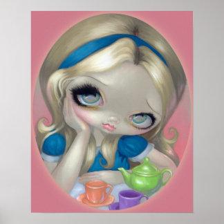 Alice's Tea Party ART PRINT Alice in Wonderland