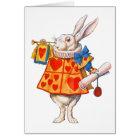 ALICE'S WHITE RABBIT CARD