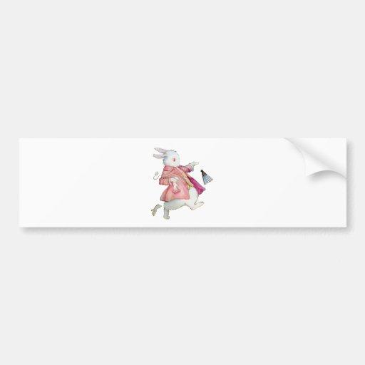 Alice's White Rabbit in Wonderland Bumper Sticker