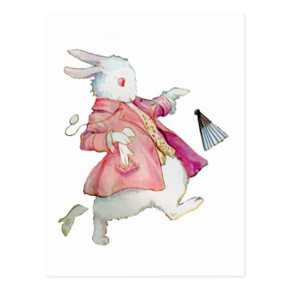 Alice's White Rabbit in Wonderland Postcard