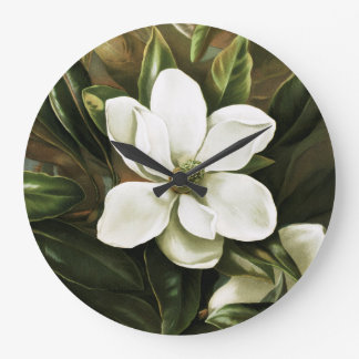 Alicia H. Laird: Magnolia Grandflora Large Clock
