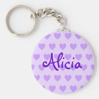 Alicia in Purple Keychain
