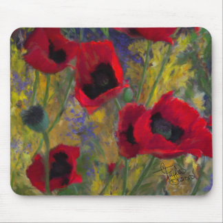 Alicias Poppies Mousepad