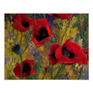 Alicia's Poppies Poster