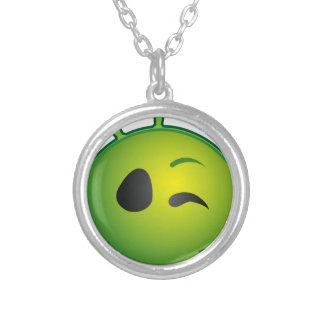 alien-41626 silver plated necklace