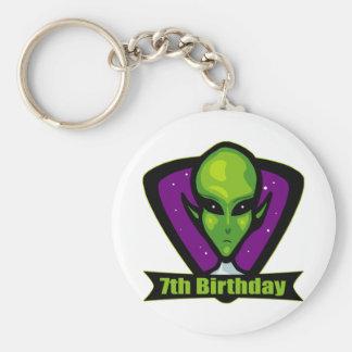 Alien 7th Birthday Gifts Key Chain