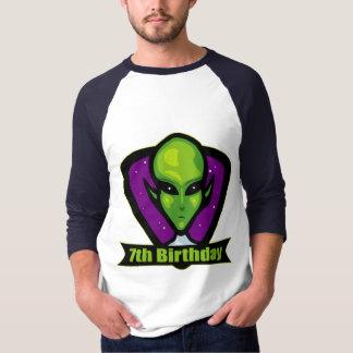 Alien 7th Birthday Gifts T-Shirt