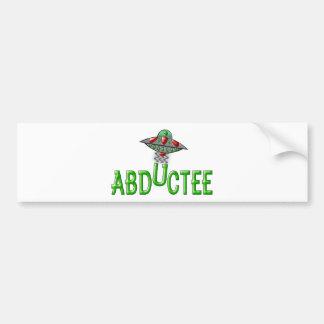 Alien Abductee Bumper Sticker