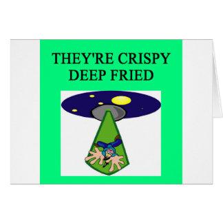 alien abduction  area 51 ufo joke card