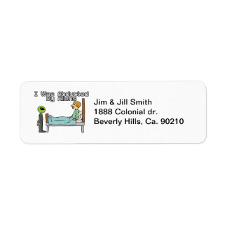 Alien Abduction Return Address Label