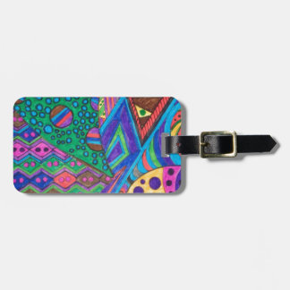 alien abstract luggage tag