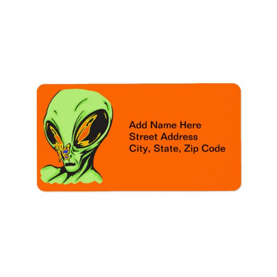 Alien and Butterfly Label