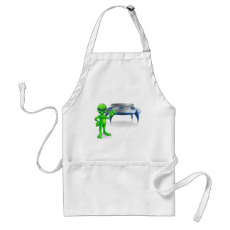 Alien and Flying Saucer Space Ship Standard Apron